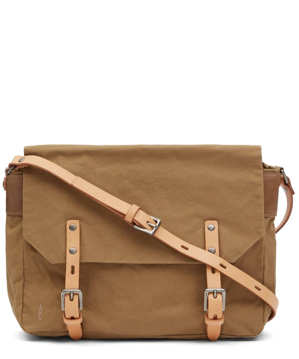 ALLY CAPELLINO Small Jeremy Waxy Satchel Bag in White