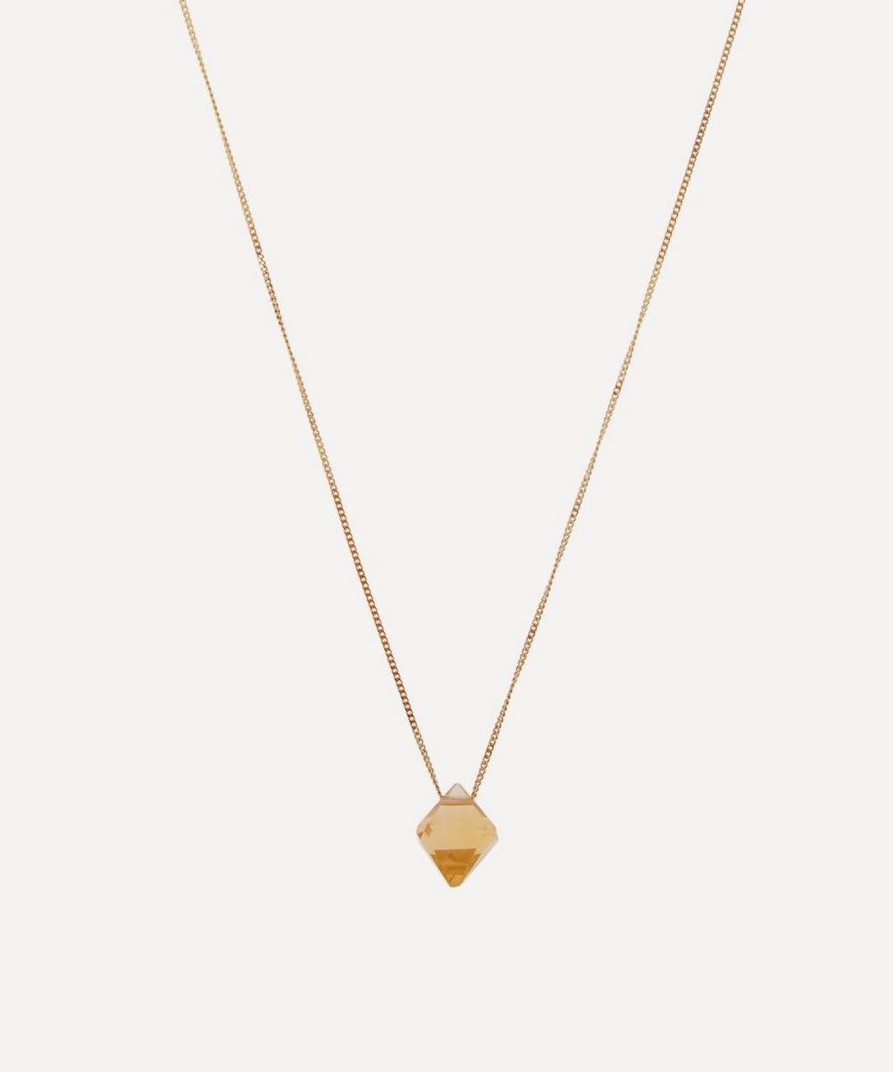 ATELIER VM Gold Cristal Citrin Quartz Pendant Necklace