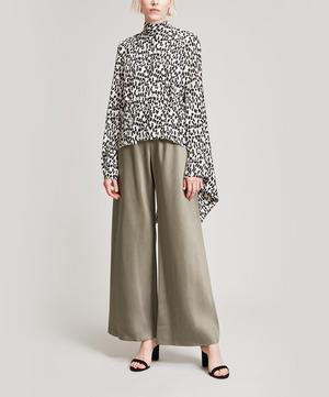 Belva Leopard Print Silk Blouse