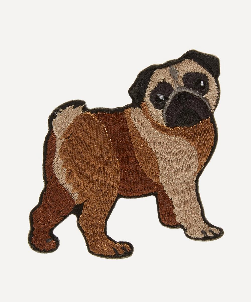 Embroidered Stick-On Pug Dog Patch