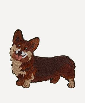 Embroidered Stick-On Corgi Dog Patch