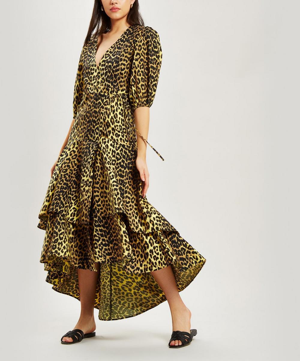 Ganni Dresses Biljou Leopard Wrap-Dress