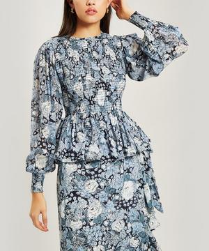 Elm Floral Georgette Long-Sleeve Blouse