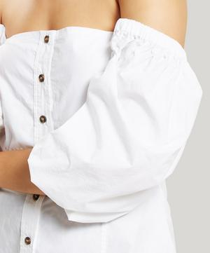 Slate Button-Down Blouse