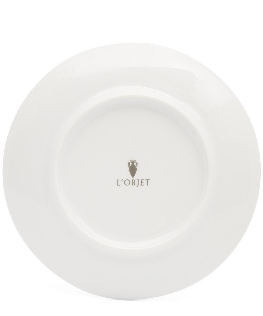 Malachite Canape Plates Set of 4