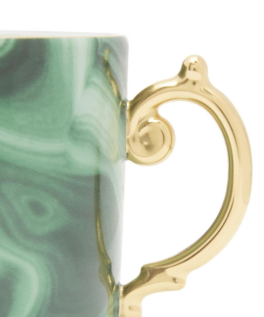 Malachite Espresso Cup and Saucer Set of 6