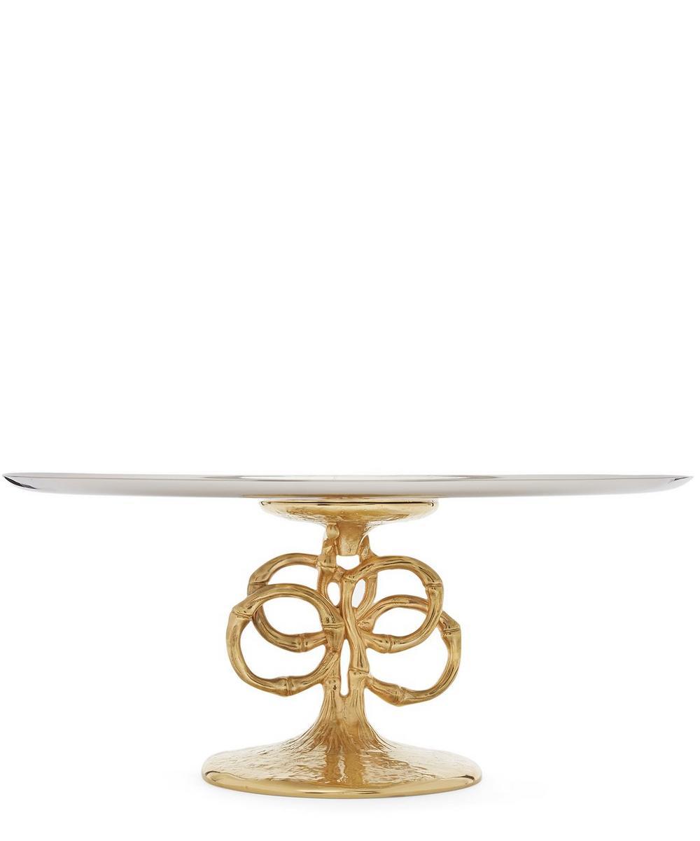 Evoca Gold-Plated Cake Stand