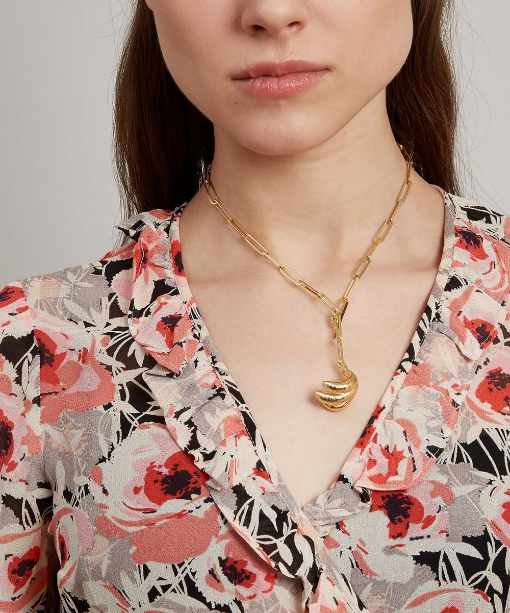 Gold-Plated Sonia Banana Necklace