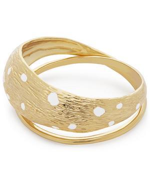 Gold-Plated Eden Leopard Enamel Cuff Bracelet
