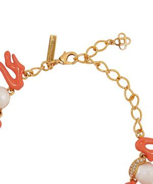 Gold-Tone Crystal Coral Necklace