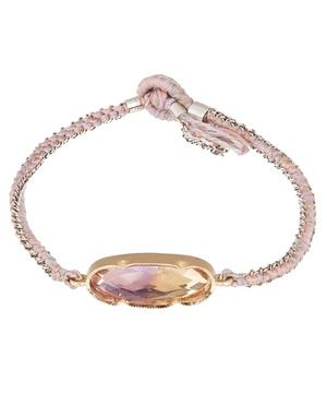 Gold and Silver Icicle Ametrine Silk Chain Bracelet