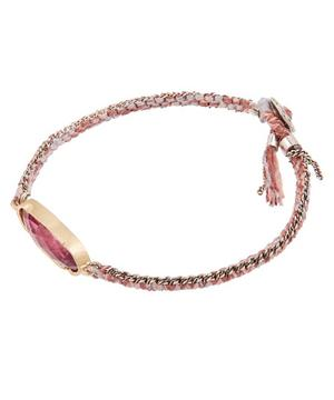 Icicle Tourmaline Silk Chain Bracelet