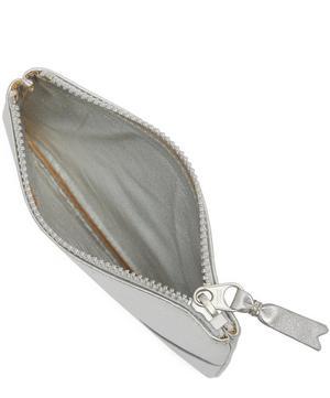 Metallic Top Zip Wallet