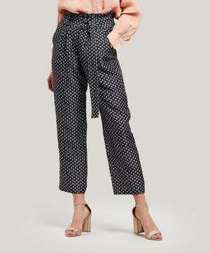 Venice High-Waisted Printed Trousers