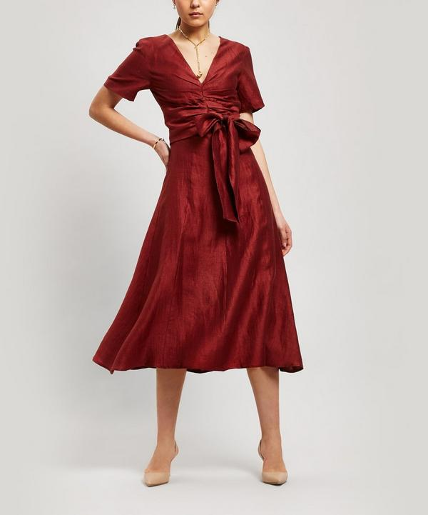 194d0d3084 Regina Tie-Waist Linen-Blend Dress ...