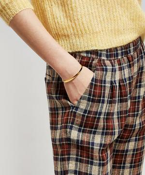 Oscar Checked Linen Trousers