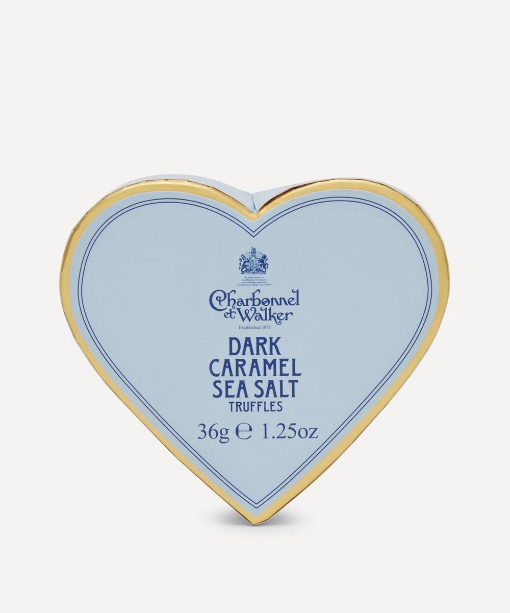 Charbonnel et Walker - Mini Heart Dark Chocolate and Sea Salt Caramel Truffles 36g