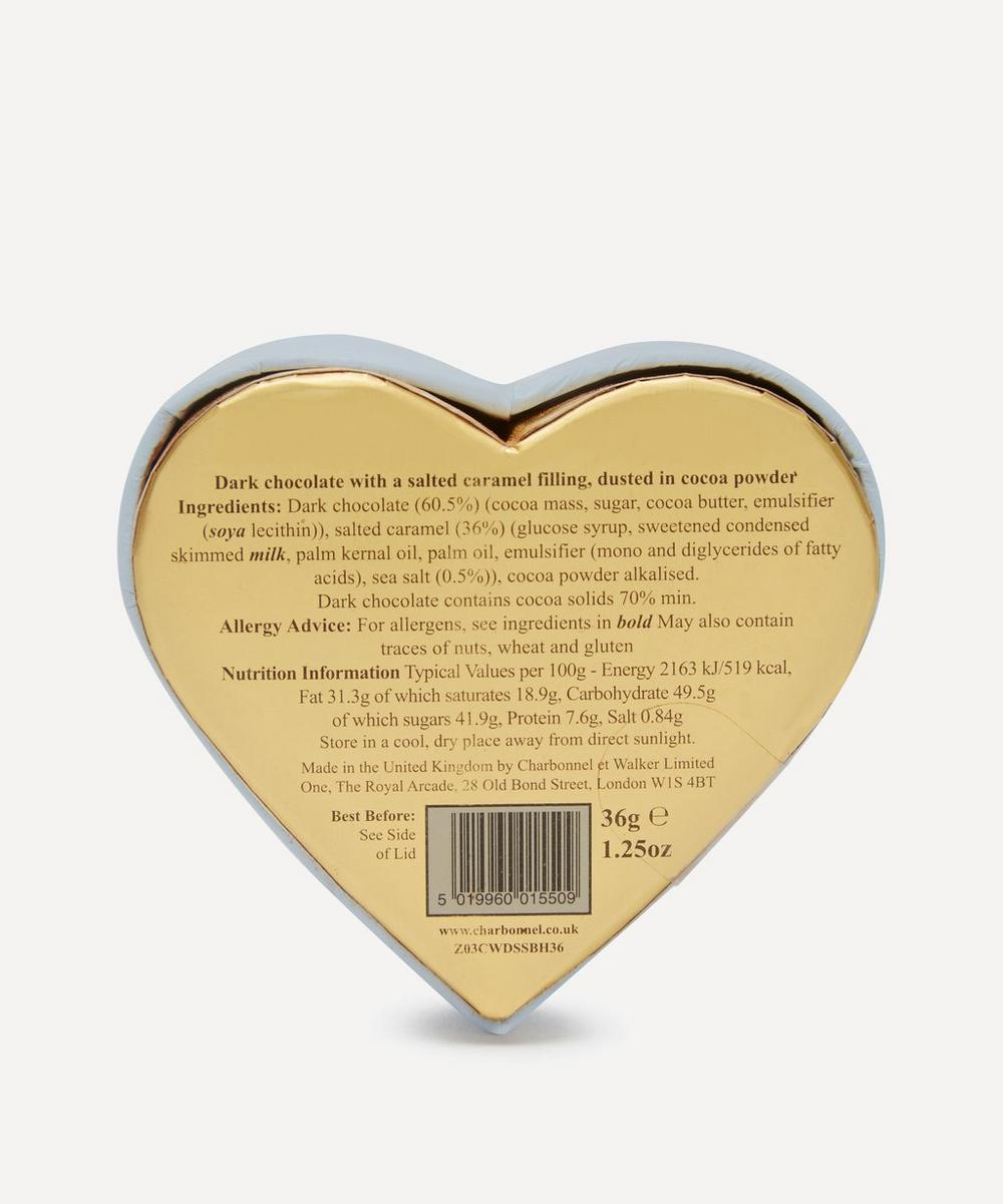 Mini Heart Dark Chocolate and Sea Salt Caramel Truffles 36g