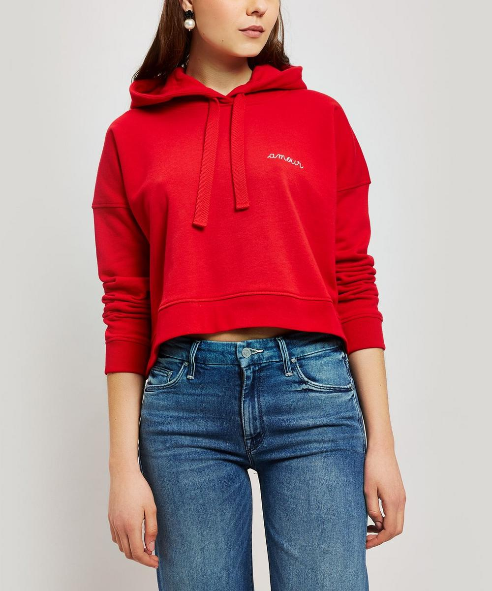 Amour Embroidered Cotton Hoodie