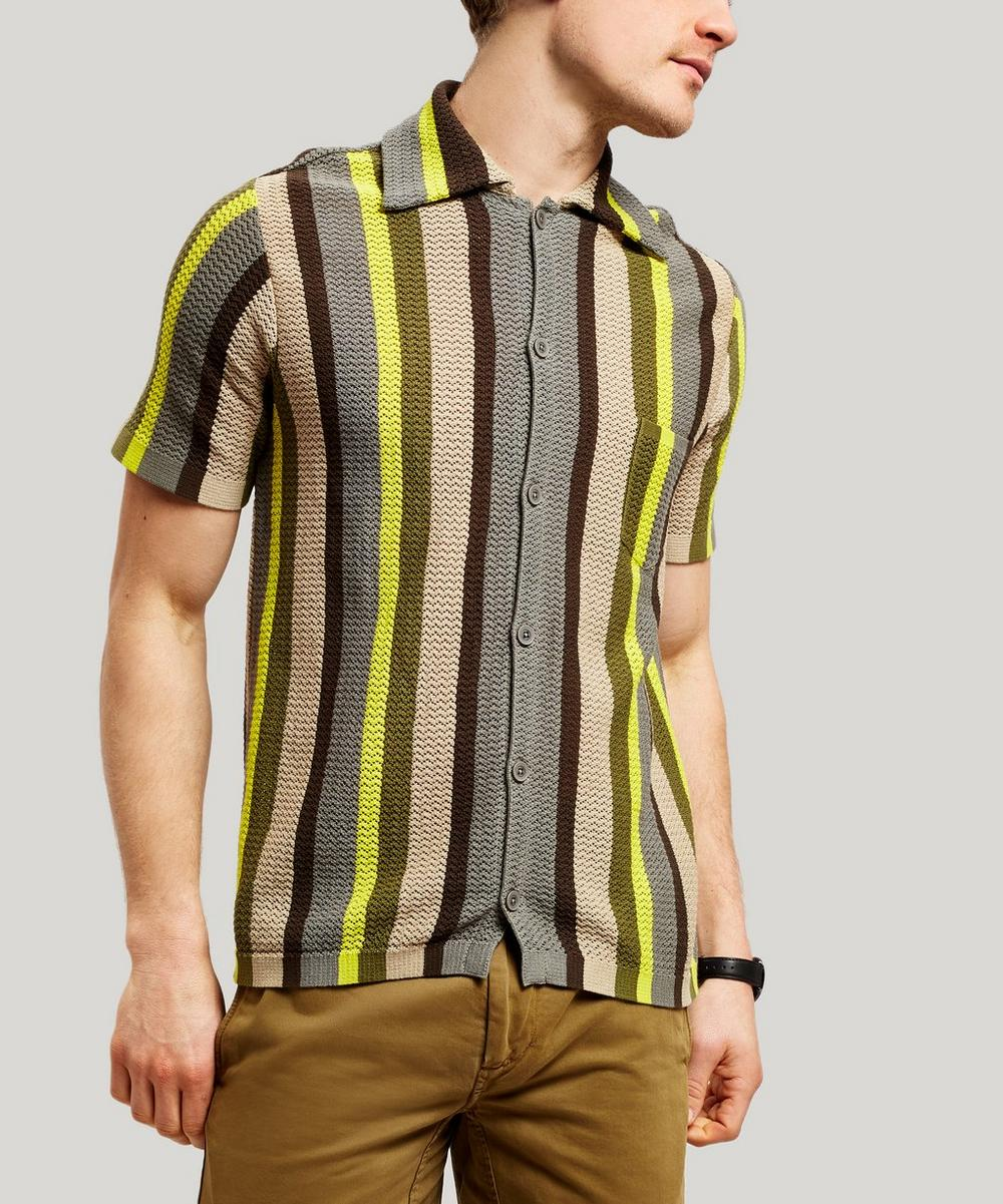 Cmmn Swdn Knits WES KNITTED STRIPE SHIRT