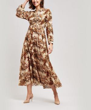 Hazel Balloon Sleeve Animal Print Maxi Dress