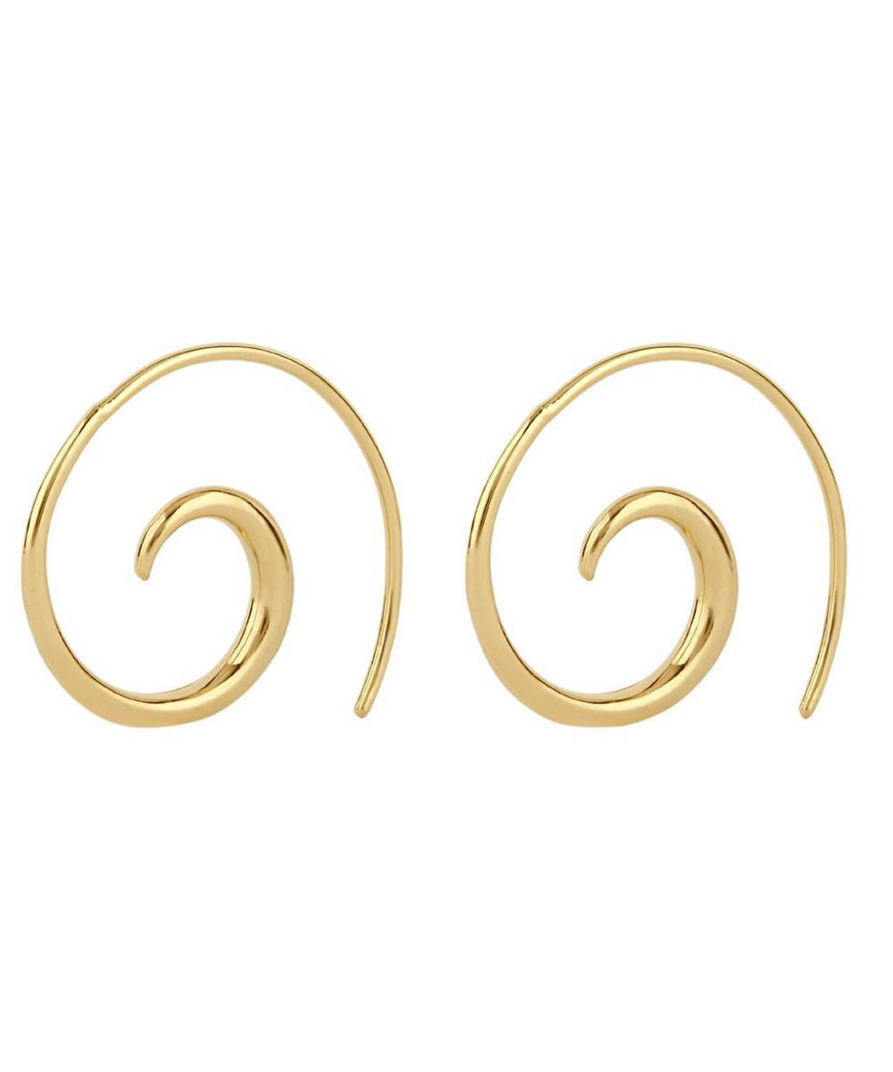 Gold Vermeil Toro Small Beak Street Hoop Earrings