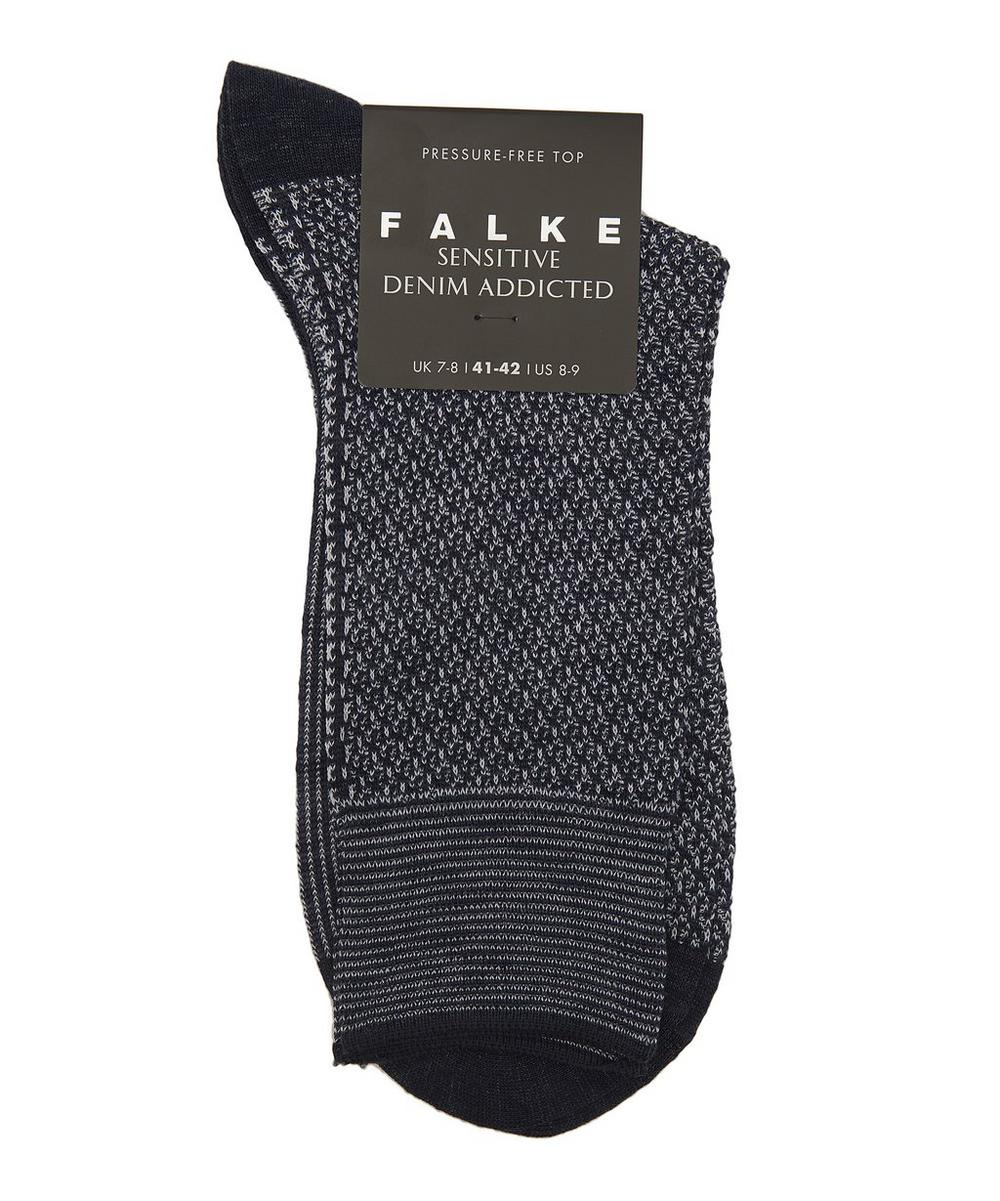 Sensitive Hook Cotton-Blend Socks