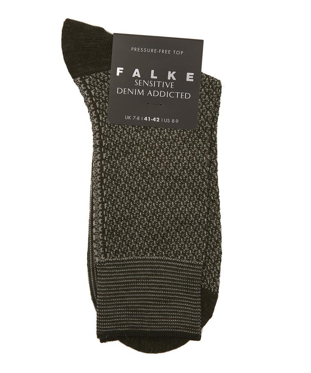 Sensitive Hook Cotton-Blend Socks