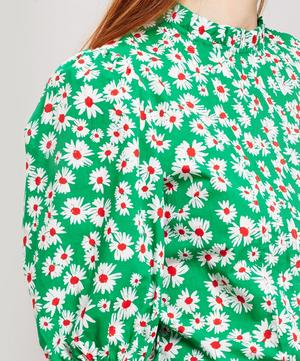 Mandy Pleated Floral Cotton Blouse