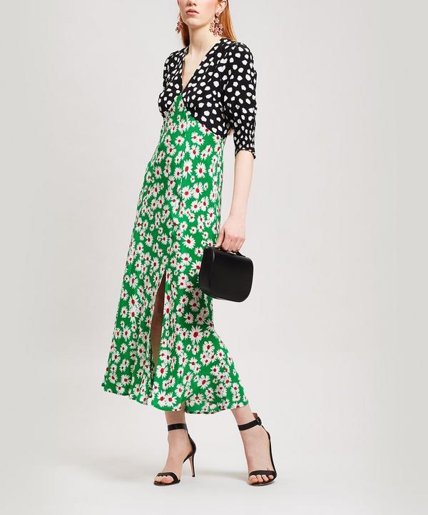 6e5c590bff Martha Clashing Print Midi-Dress ...