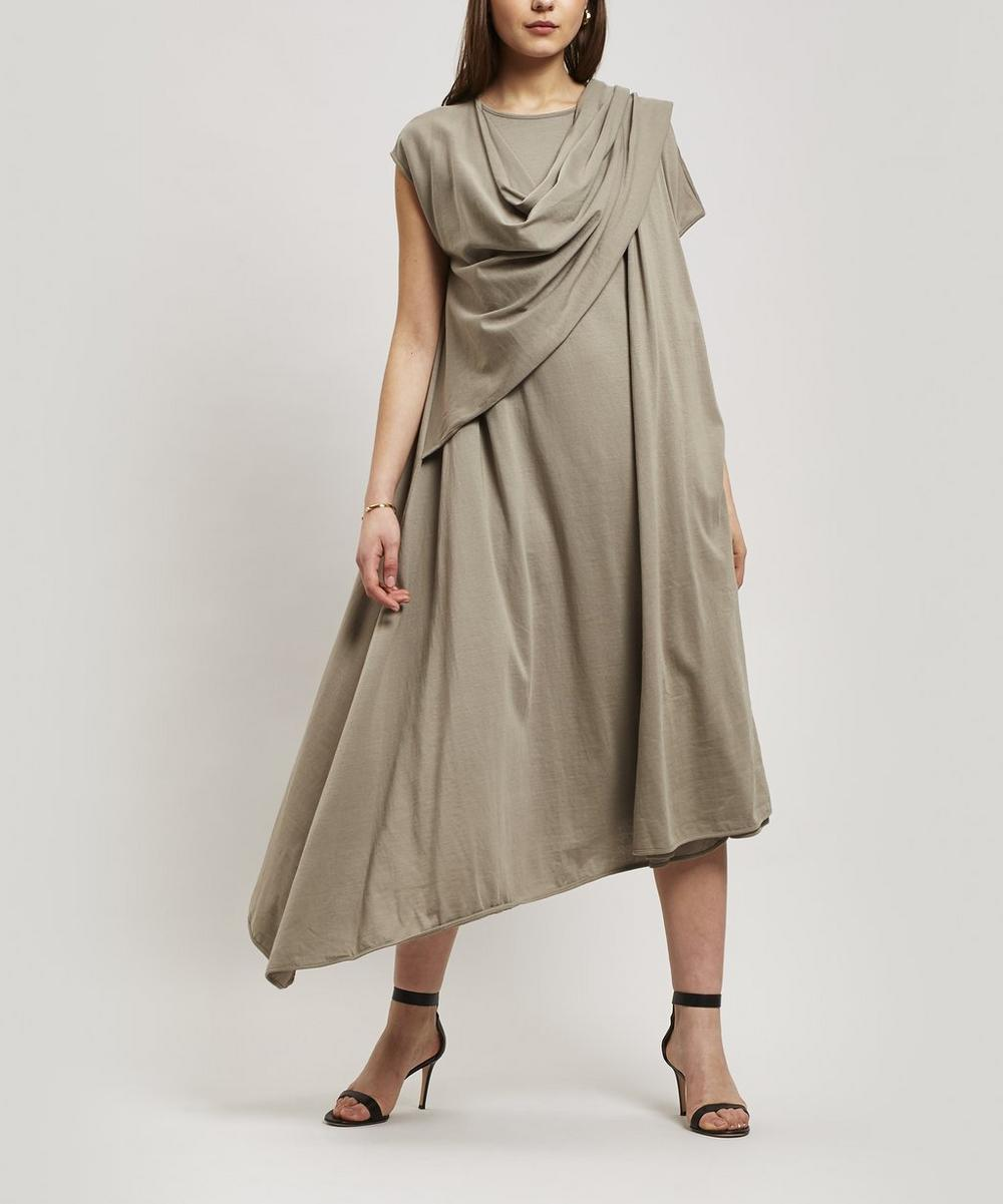 Lemaire Accessories Draped Scarf Midi Dress