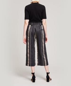Fena Striped Cropped Trousers