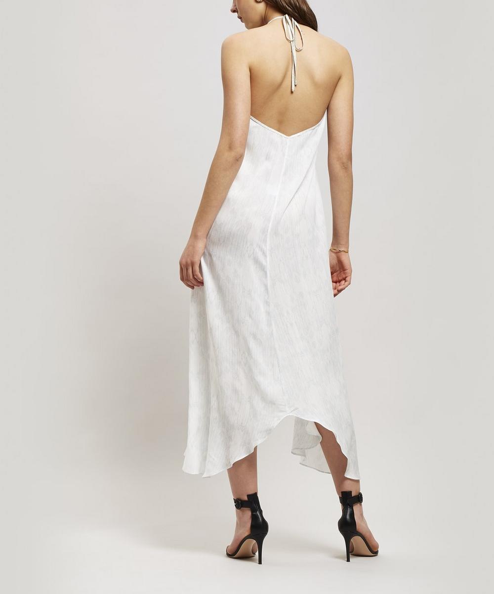 Balinese Feather Halter-Neck Dress