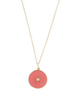 Gold Enamel Star Necklace
