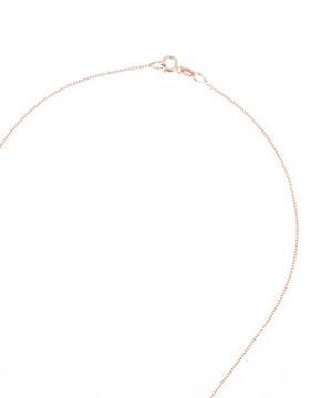 Rose Gold Full Moon White Diamond Necklace