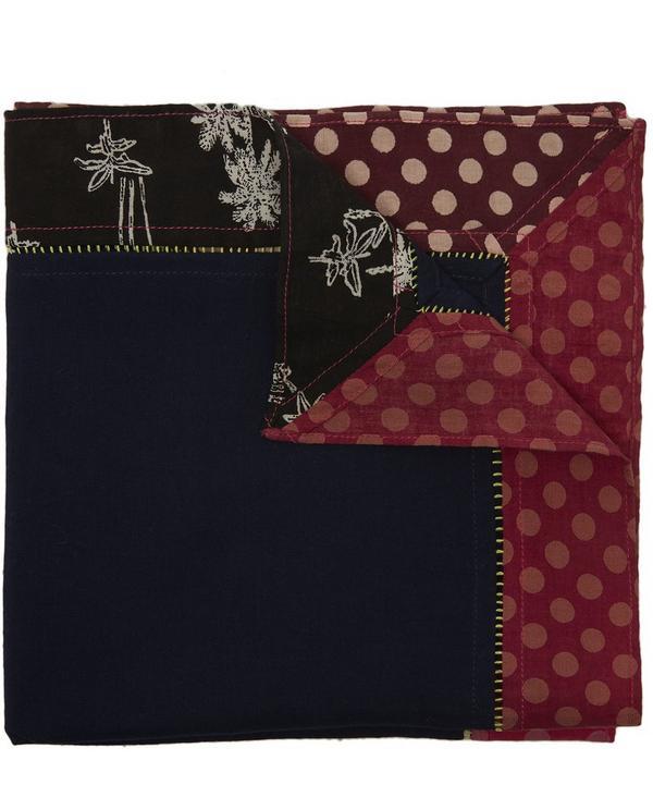 638cfa1210 Polka Dot Palm Tree Print Cotton Pocket Square ...