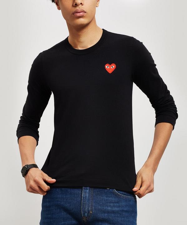 3ebe8f8a4572 Heart Long Sleeve Cotton T-Shirt ...