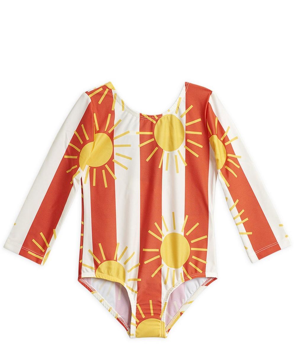 Sun Stripe Long Sleeve Swimsuit 2-8 Years
