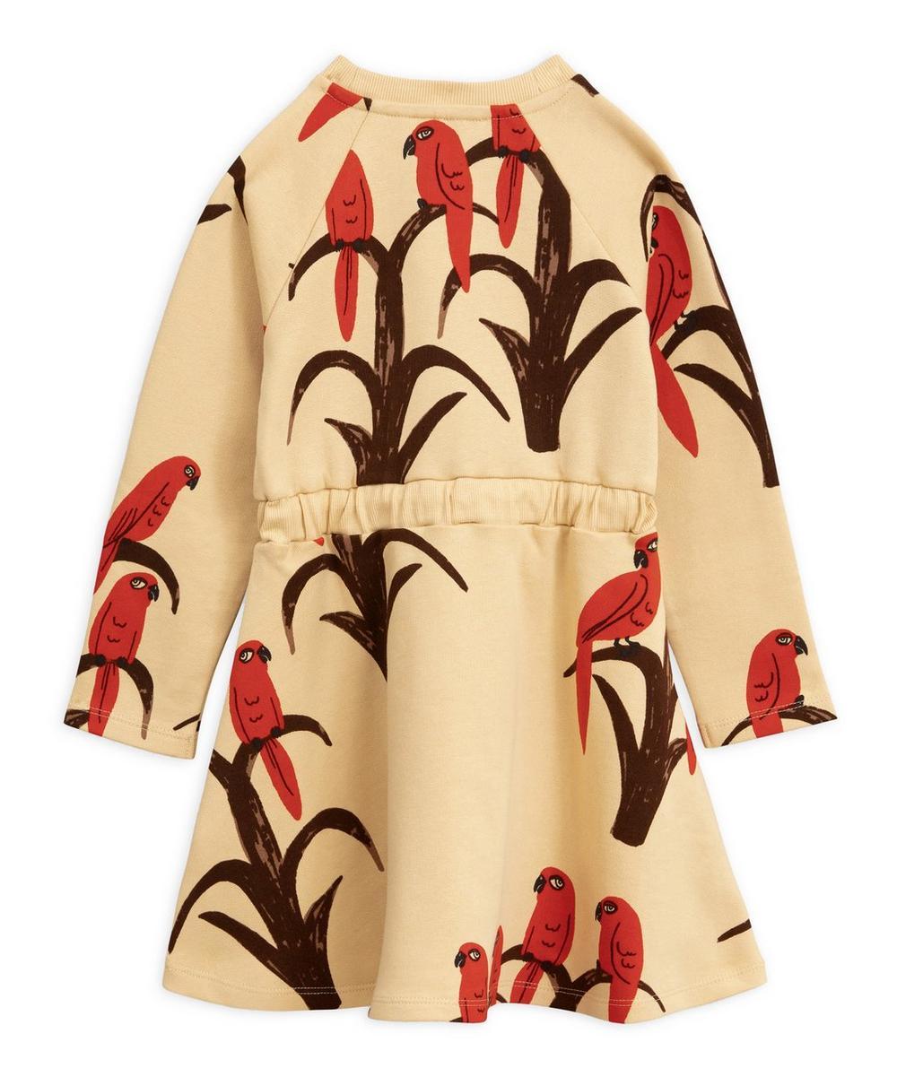 Parrot Print Organic Cotton Dress 2-8 Years