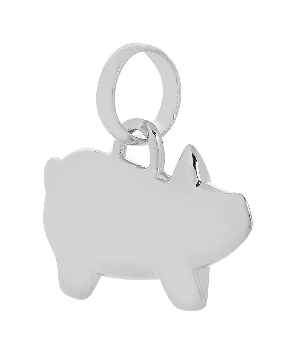Silver Chinese Zodiac Bessie the Pig Pendant Charm