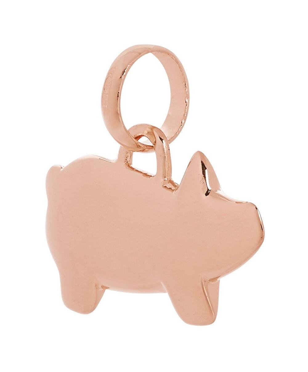 Rose Gold Vermeil Chinese Zodiac Bessie the Pig Pendant Charm