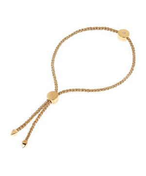 Gold Vermeil Linear Solo Diamond Cord Friendship Bracelet