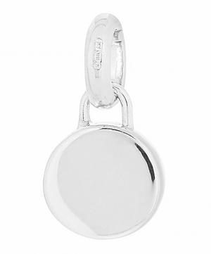 Silver Linear Solo Diamond Pendant Charm