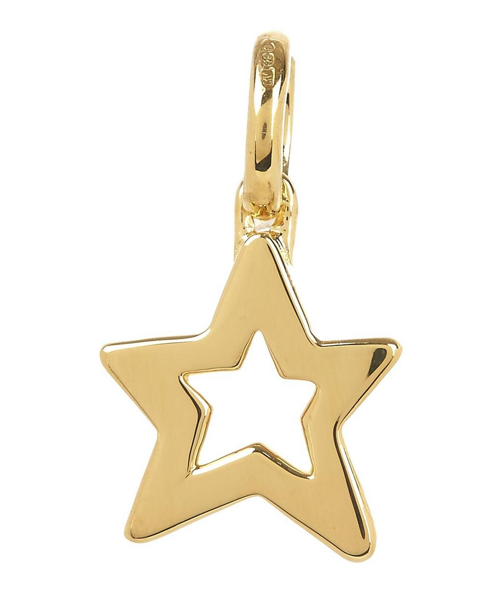 Gold Vermeil Alphabet Diamond Star Pendant