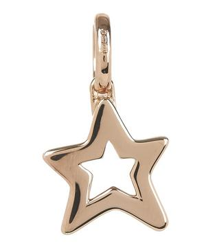 Rose Gold Vermeil Alphabet Diamond Star Pendant