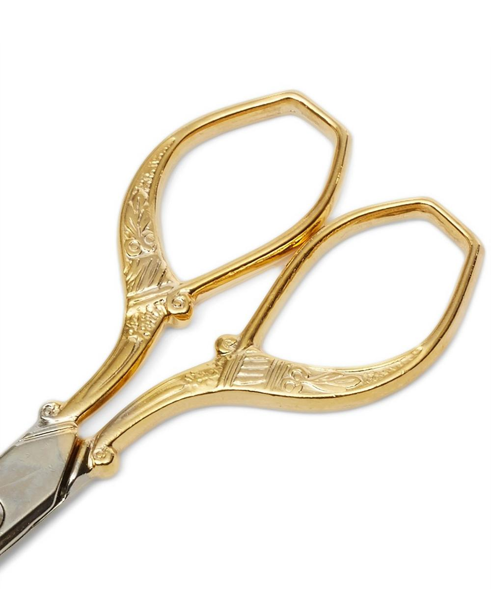 Gold-Plated Florentine Scissors