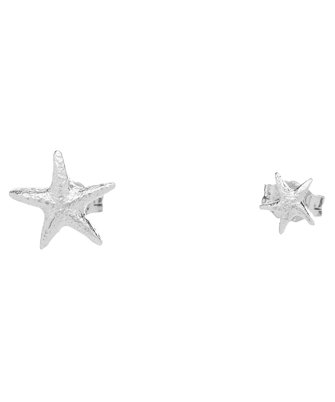 2f7311852 Silver Asymmetric Starfish Stud Earrings