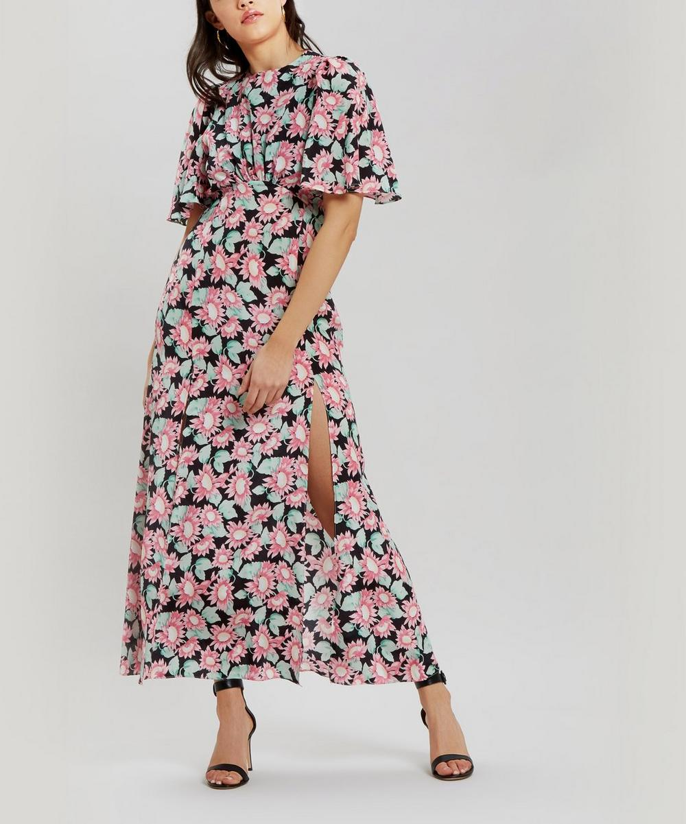 Petal Sleeve Floral Dress