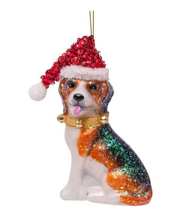 Glass Beagle Ornament
