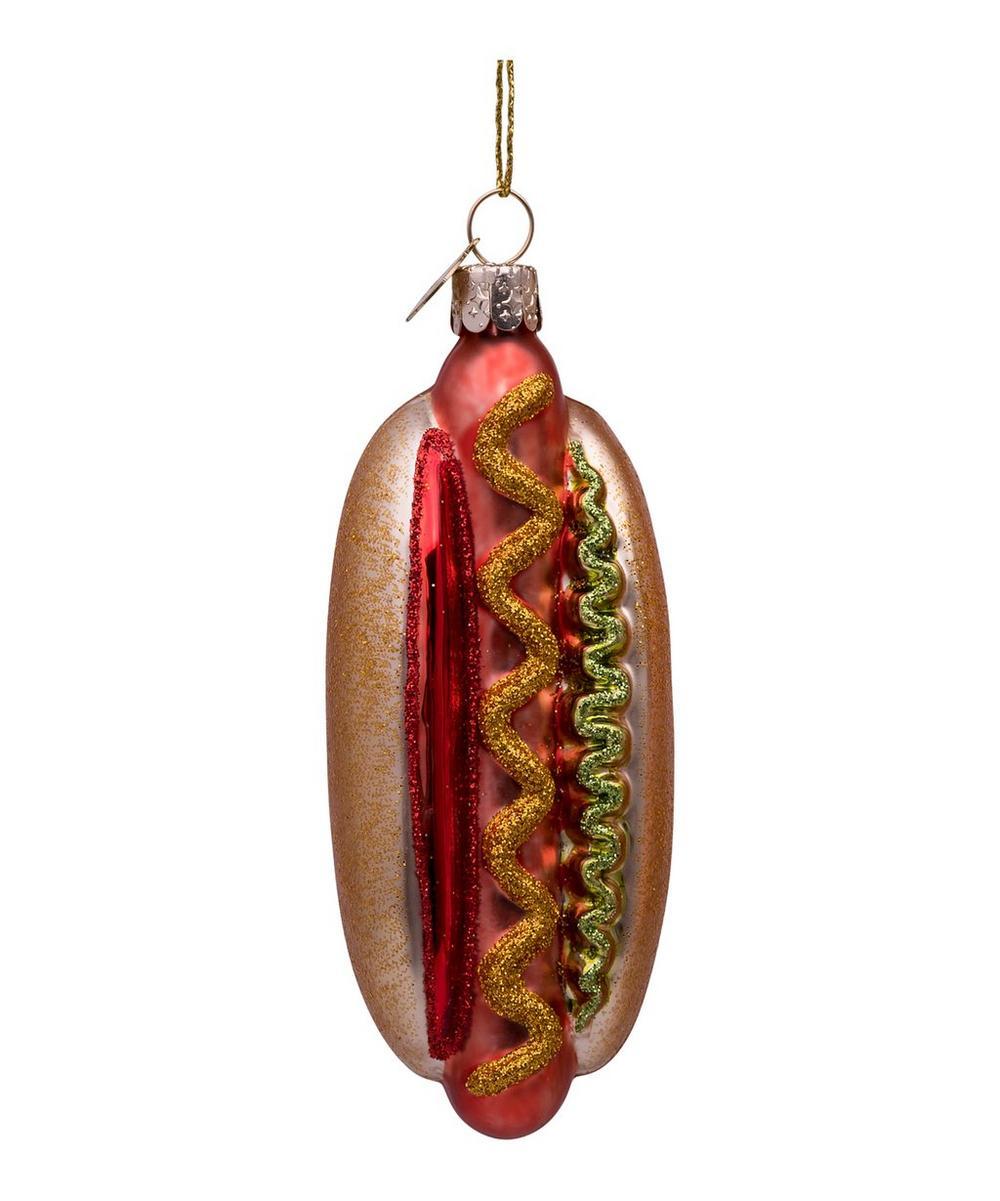 Glass Hotdog Ornament